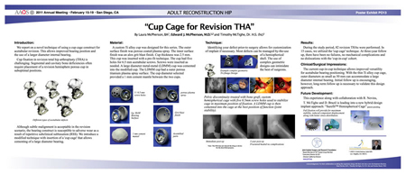 "Cup Cage for Revision THA"" Adult Reconstruction Hip"