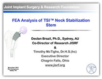 FEA Analysis of TSITM Neck Stabilization Stem